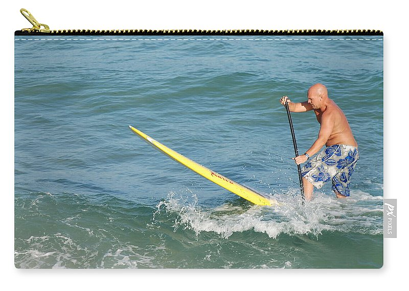 Sea Scape Carry-all Pouch featuring the photograph Surfer Dude by Rob Hans