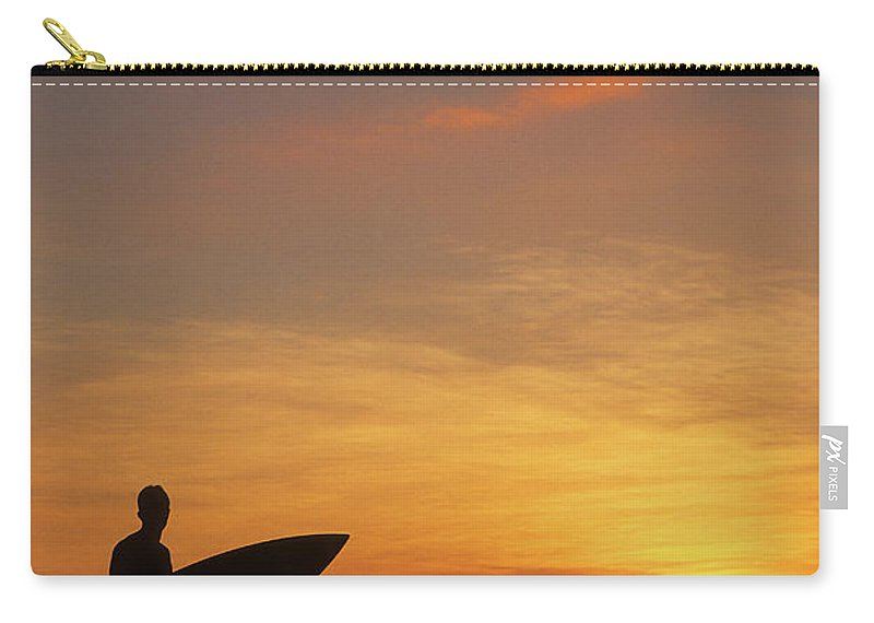 Surfing Carry-all Pouch featuring the photograph Surfer by Steve Williams