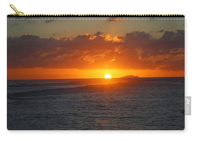 Carry-all Pouch featuring the photograph Surfers Beach by Ramon Reyes