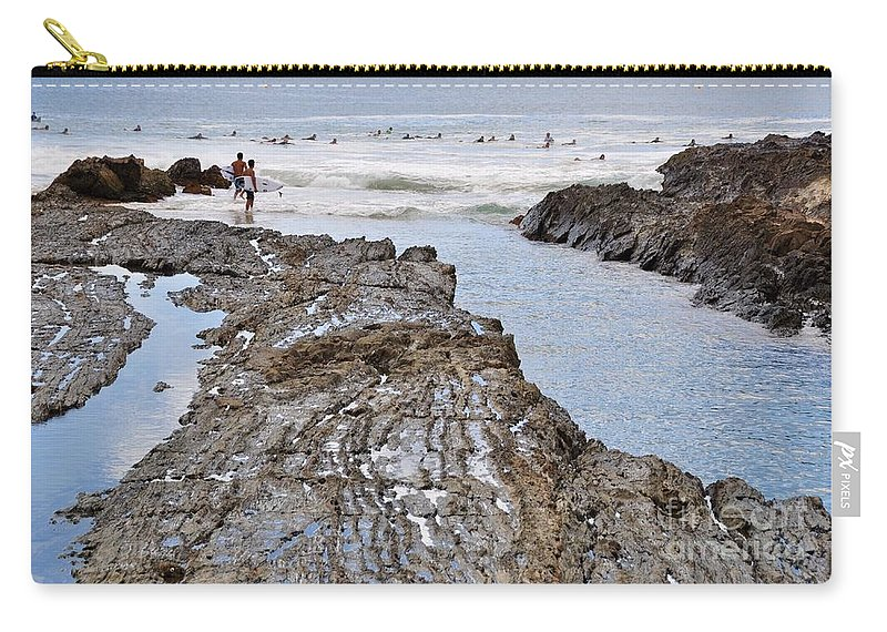 Gold Coast Carry-all Pouch featuring the photograph Surfers Waterways by Csilla Florida