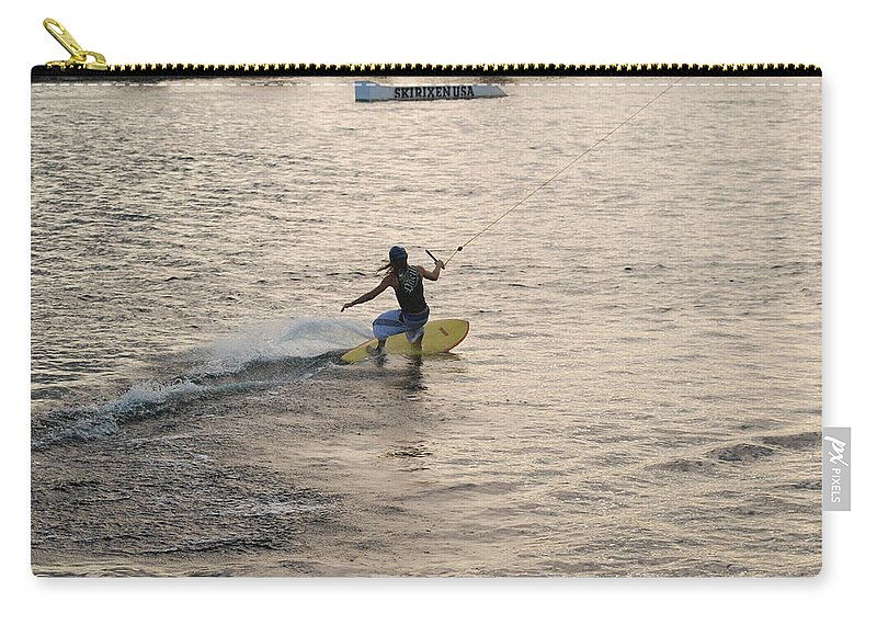 Sun Carry-all Pouch featuring the photograph Surfing by Rob Hans