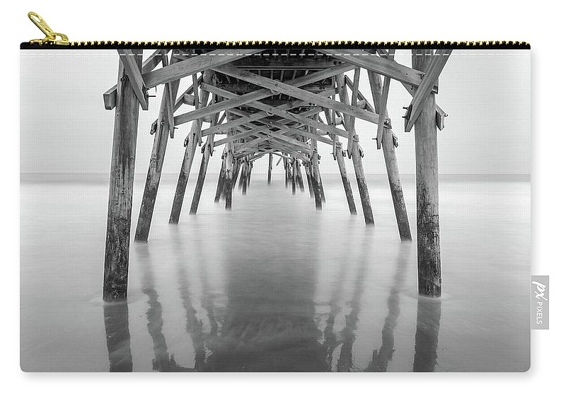 Long Exposure Carry-all Pouch featuring the photograph Surfside Pier Exposure by Charles Lawhon