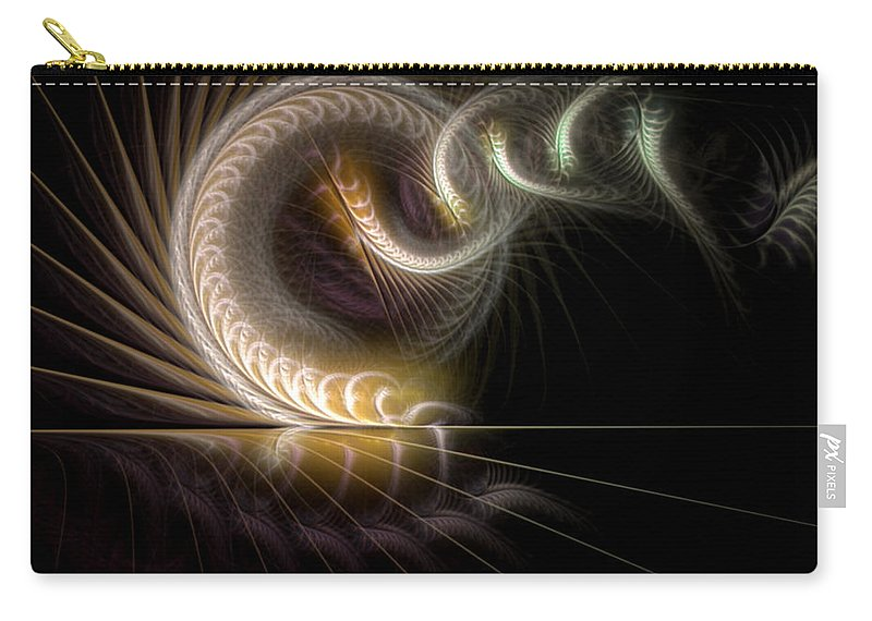 Abstract Carry-all Pouch featuring the digital art Surmising The Potentialities by Casey Kotas