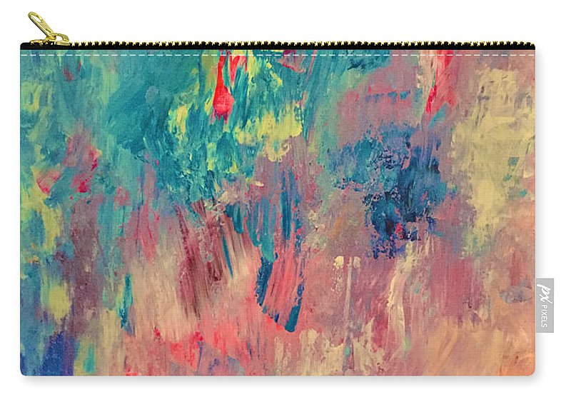 Abstract Carry-all Pouch featuring the painting Surprise Party by Elle Justine