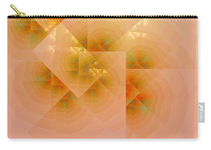 Fractal Carry-all Pouch featuring the digital art Surreal Skylight by Richard Ortolano