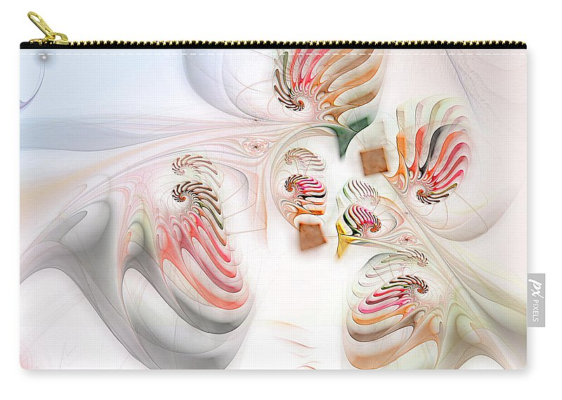 Abstract Carry-all Pouch featuring the digital art Surrealism Examined by Casey Kotas
