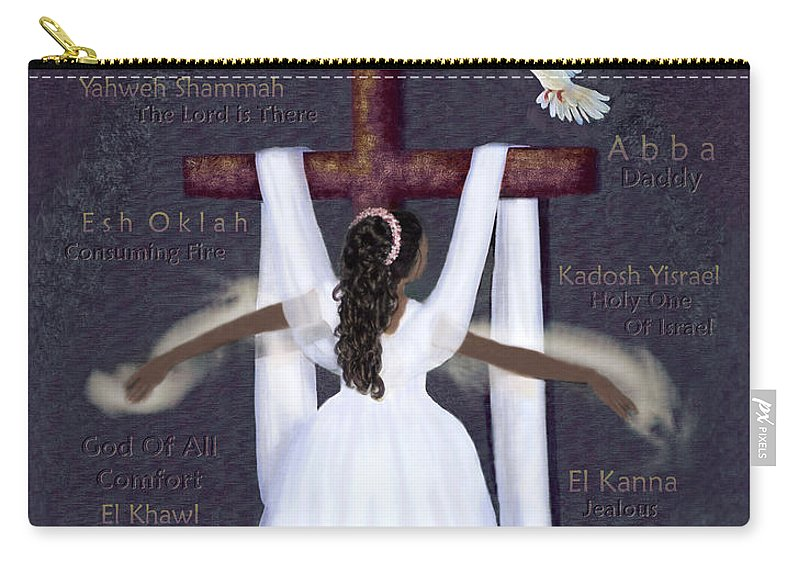 Prophetic Art Carry-all Pouch featuring the digital art Surrender To Jesus by Constance Woods