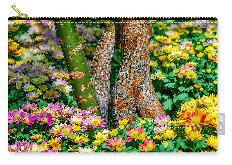 Spring Flowers Carry-all Pouch featuring the photograph Surrounded by Az Jackson