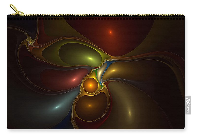 Abstract Carry-all Pouch featuring the digital art Surrounded by Casey Kotas
