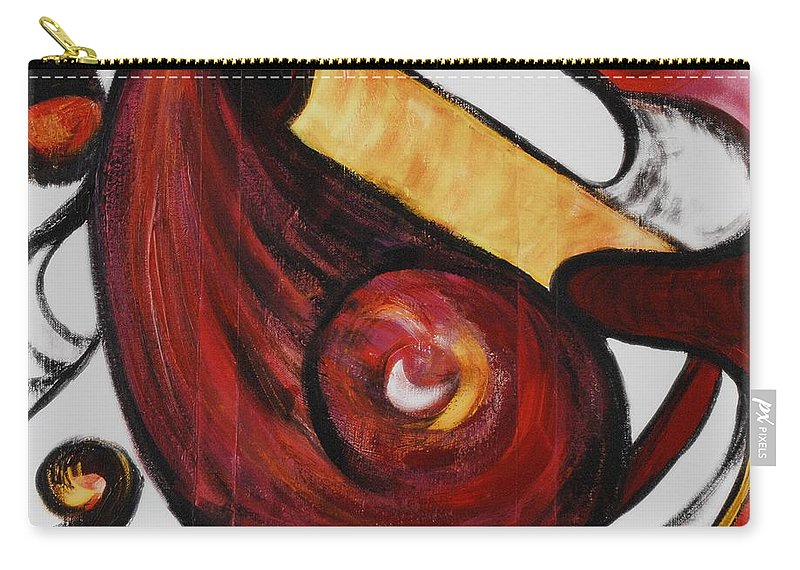 Survivor Carry-all Pouch featuring the painting Survivor by Nadine Rippelmeyer