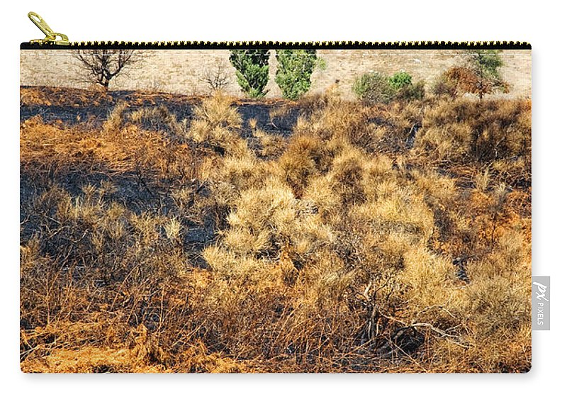Hills Carry-all Pouch featuring the photograph Survivors - After The Fire by Silvia Ganora