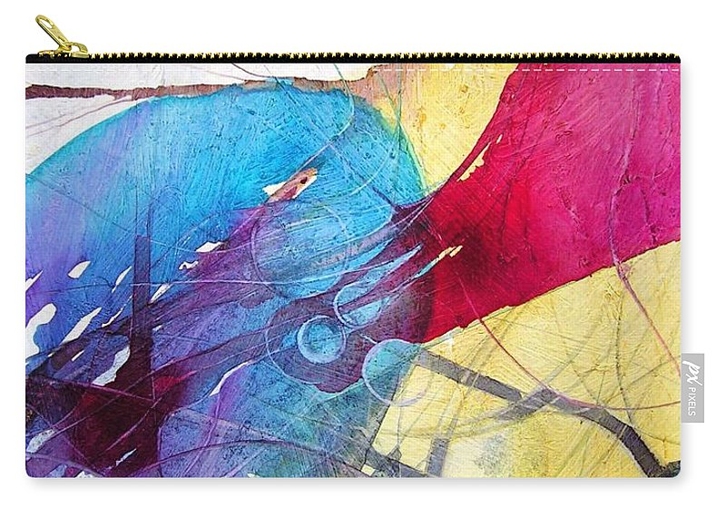Abstract Carry-all Pouch featuring the painting Sushi On Pluto by Annika Farmer