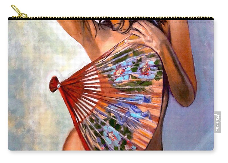 Women Carry-all Pouch featuring the painting Susie by Jose Manuel Abraham