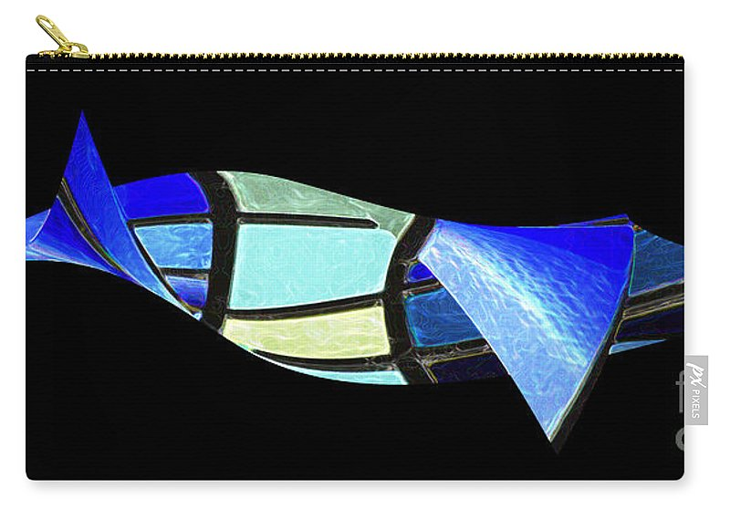 Wendy Carry-all Pouch featuring the digital art Suspended 1 by Wendy Wilton