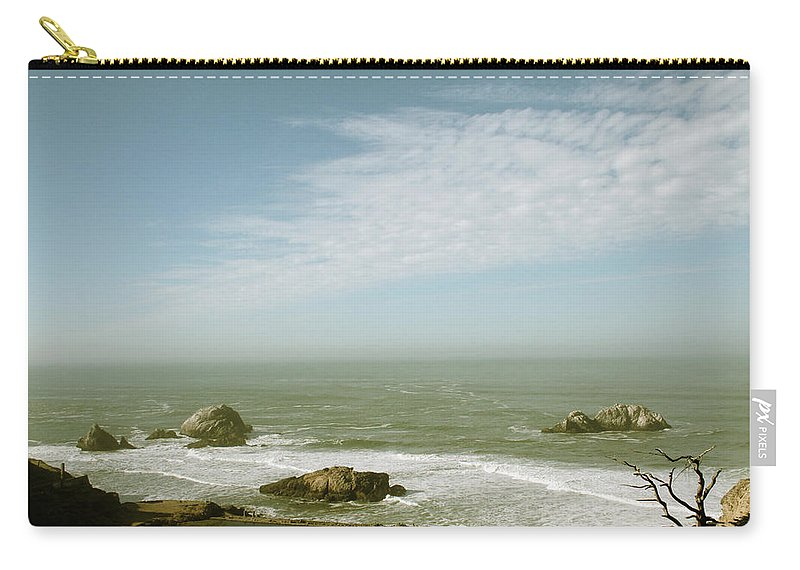 San Francisco Carry-all Pouch featuring the photograph Sutro Baths San Francisco by Linda Woods