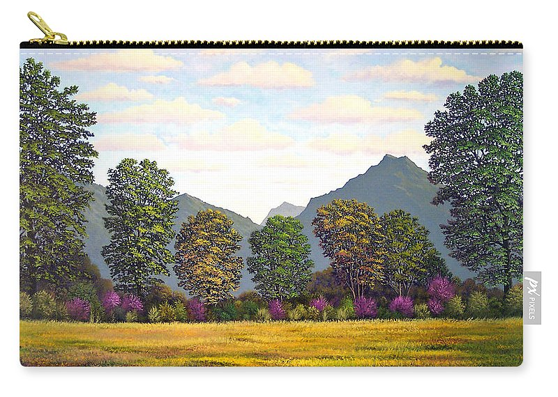 Mountains Carry-all Pouch featuring the painting Sutter Buttes In Springtime by Frank Wilson