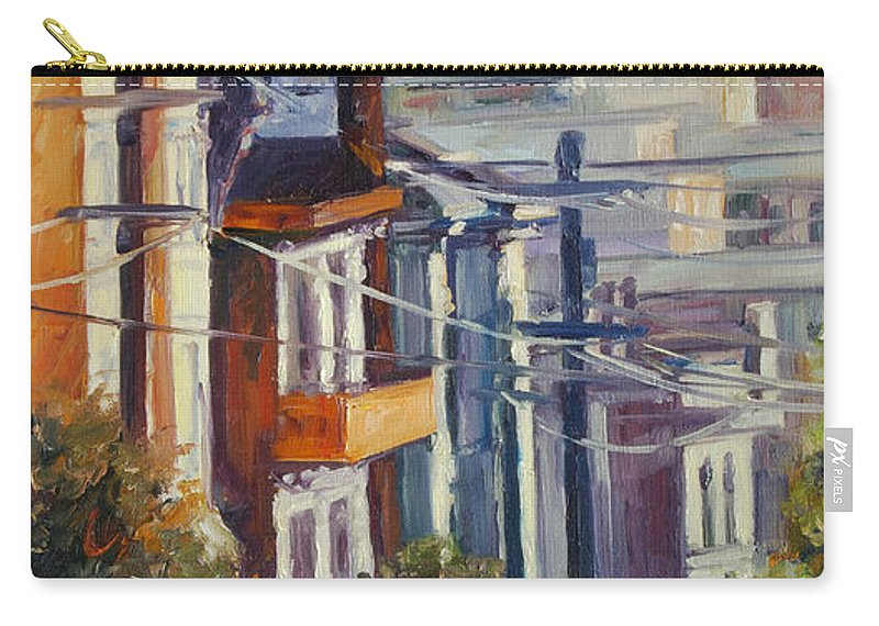Cityscape Carry-all Pouch featuring the painting Post Street by Rick Nederlof
