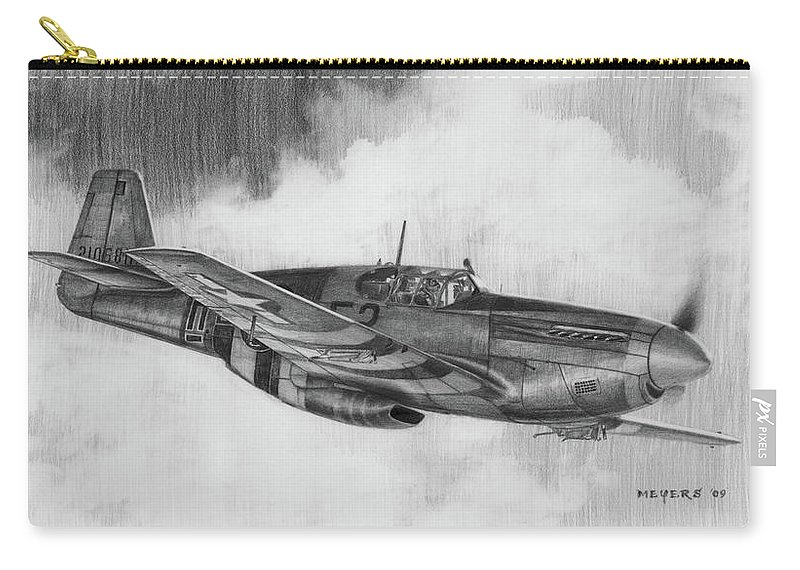 Aviation Art Carry-all Pouch featuring the drawing Suzy G by Wade Meyers