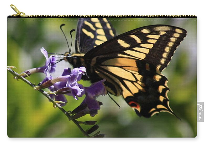Swallowtail Butterfly Carry-all Pouch featuring the photograph Swallowtail Butterfly 1 by Carol Groenen