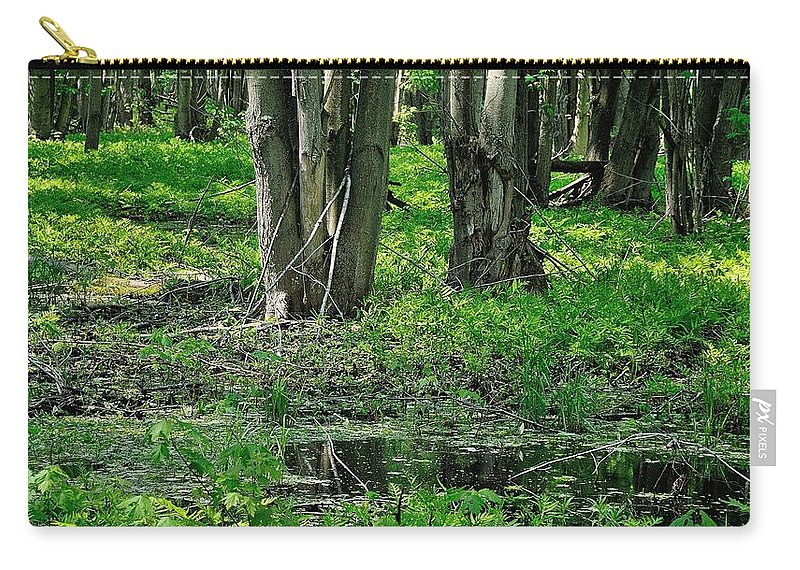 Swamp Carry-all Pouch featuring the digital art Swamp by Dorothy Binder