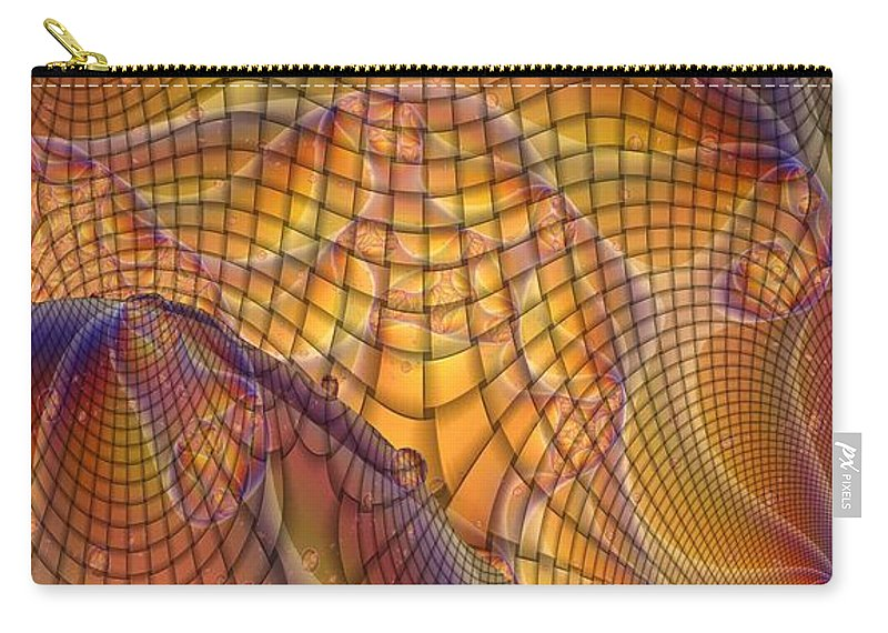 Swamp Gas Carry-all Pouch featuring the digital art Swamp Gas Mesh by Ron Bissett