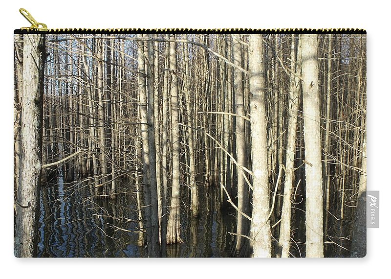 Trees Carry-all Pouch featuring the photograph Swamp Trees by Steve Cochran
