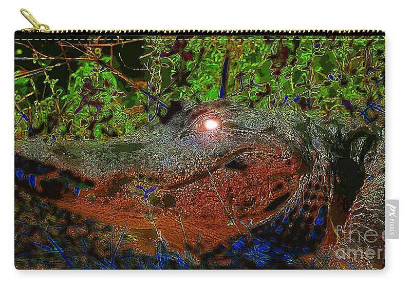 Art Carry-all Pouch featuring the painting Swampthing Out There by David Lee Thompson