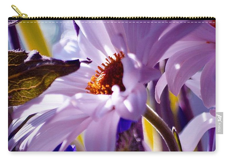 Flowers Carry-all Pouch featuring the photograph Swan... by Arthur Miller