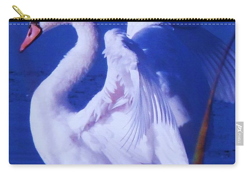 Cape Carry-all Pouch featuring the painting Swan At Cape May Point State Park by Eric Schiabor