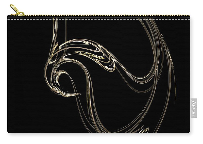 Fractals Carry-all Pouch featuring the digital art Swan Dance by Richard Rizzo