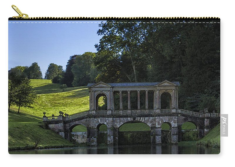 Swan Carry-all Pouch featuring the photograph Swan In Prior Park by Margie Hurwich
