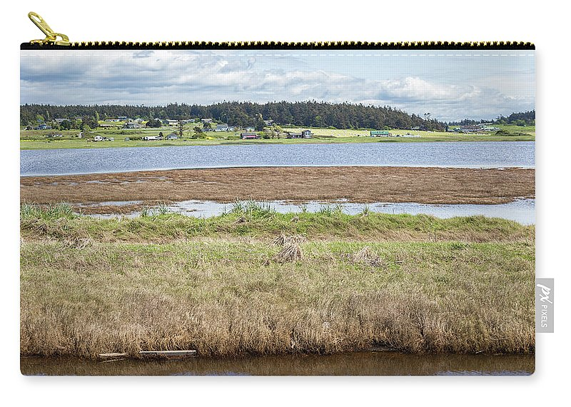 Estuary Carry-all Pouch featuring the photograph Swantown Lake Estuary by Ashlyn Gehrett