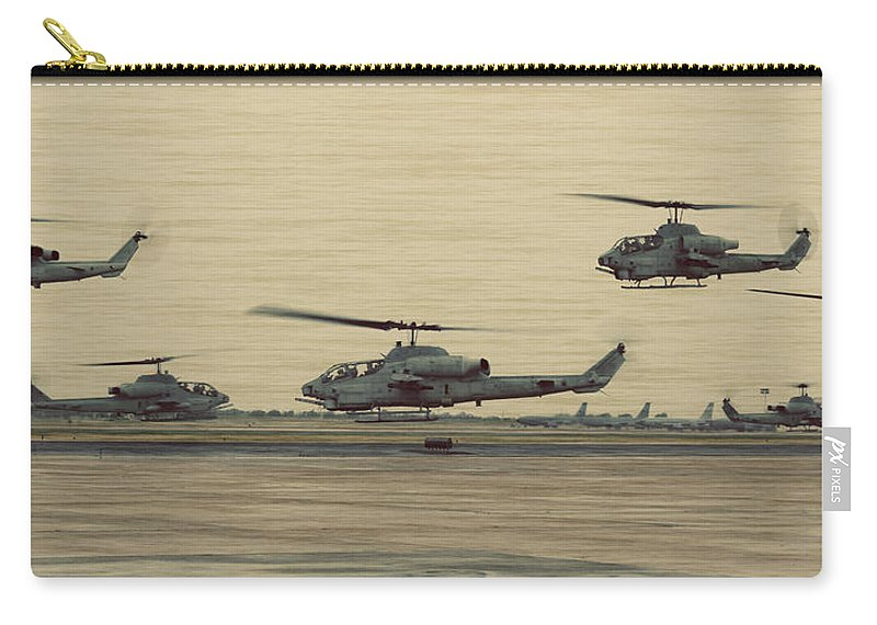Bell Carry-all Pouch featuring the photograph Swarming Cobras by Ricky Barnard