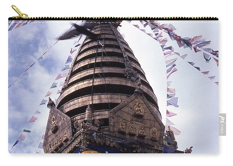 Swayambhunath Carry-all Pouch featuring the photograph Swayambhunath by Patrick Klauss
