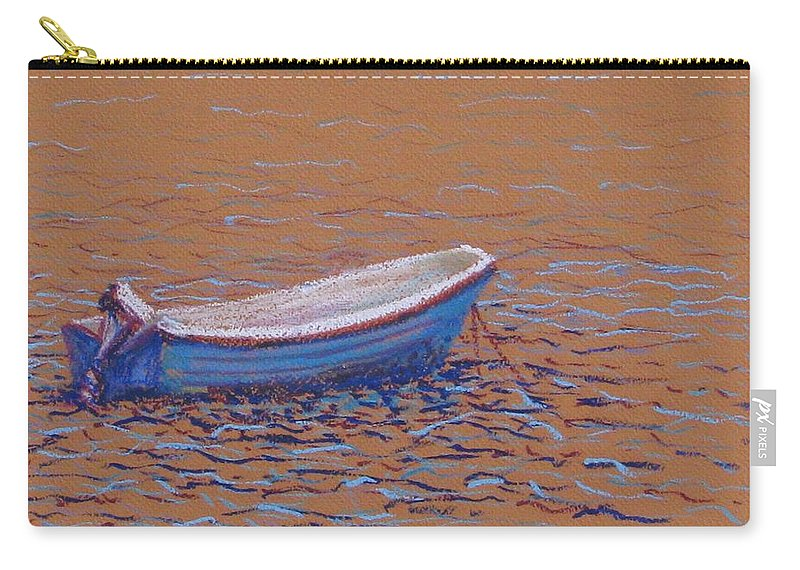 Boat Carry-all Pouch featuring the pastel Swedish Boat by Art Nomad Sandra Hansen