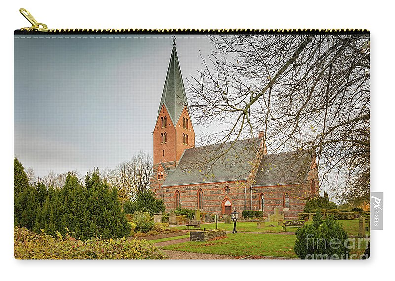 Brick Carry-all Pouch featuring the photograph Swedish Brick Church by Sophie McAulay