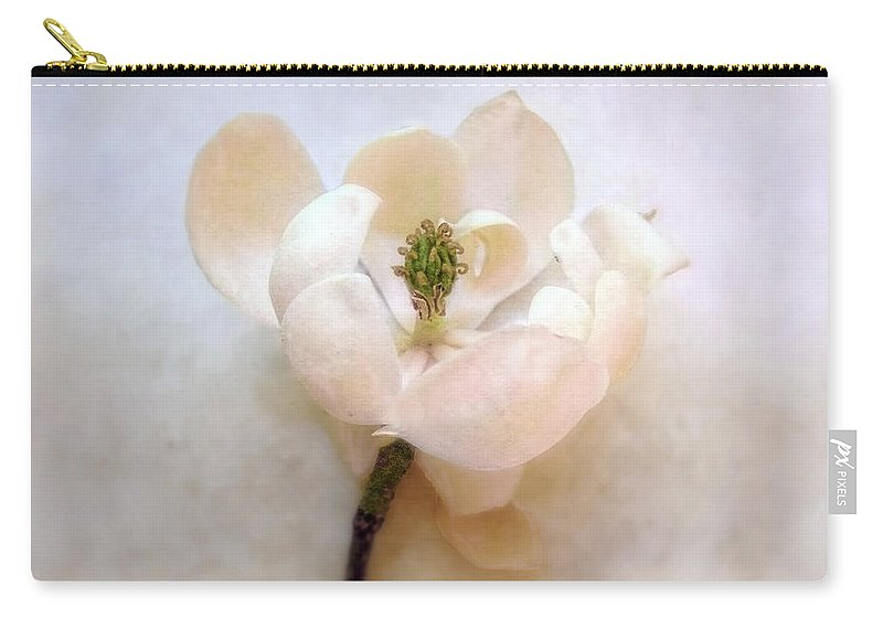 Magnolia Carry-all Pouch featuring the photograph Sweet Bay Magnolia Bloom by Louise Kumpf