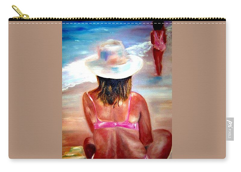 Beach Carry-all Pouch featuring the painting Sweet Child Of Mine by Sandy Ryan
