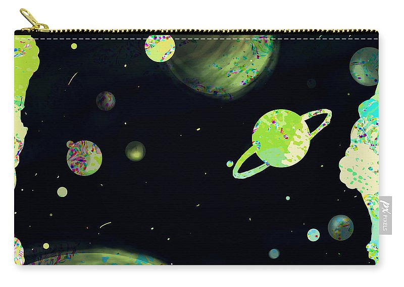 Abstract Carry-all Pouch featuring the digital art Sweet Dreams And Starry Nights by Rachel Christine Nowicki