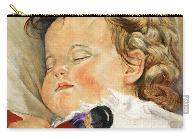 Children Portraits Carry-all Pouch featuring the painting Sweet Dreams by Portraits By NC