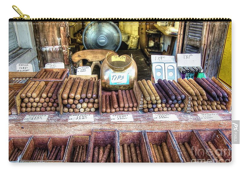 Cigars Carry-all Pouch featuring the photograph Sweet Habano by Debbi Granruth