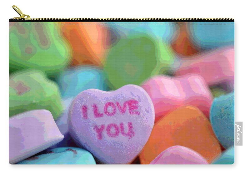 Valentine Carry-all Pouch featuring the photograph Sweet Hearts by Dianne Cowen