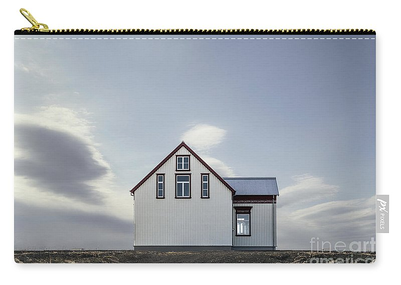 Kremsdorf Carry-all Pouch featuring the photograph Sweet House Under A White Cloud by Evelina Kremsdorf