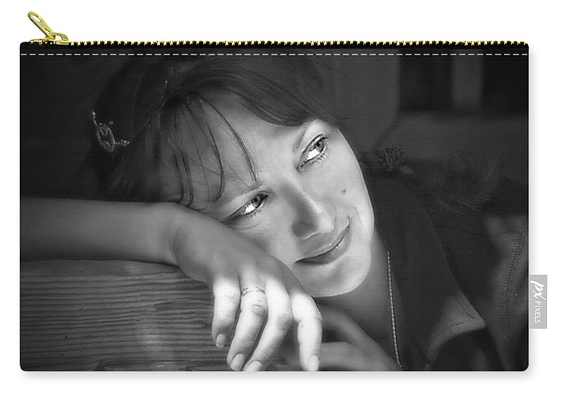Portrait Carry-all Pouch featuring the photograph Sweet Memories by Evelina Kremsdorf
