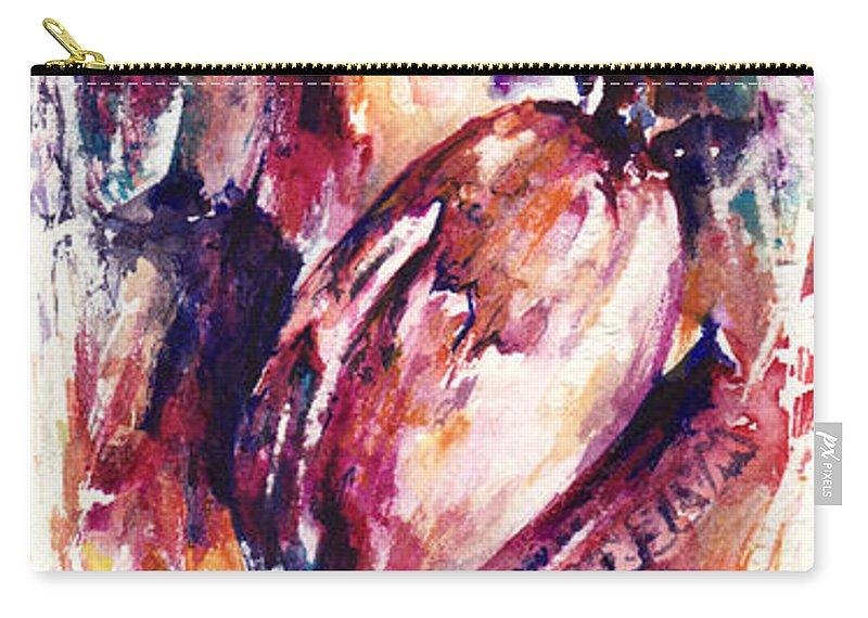 Abstract Carry-all Pouch featuring the painting Sweet Memories by Rachel Christine Nowicki