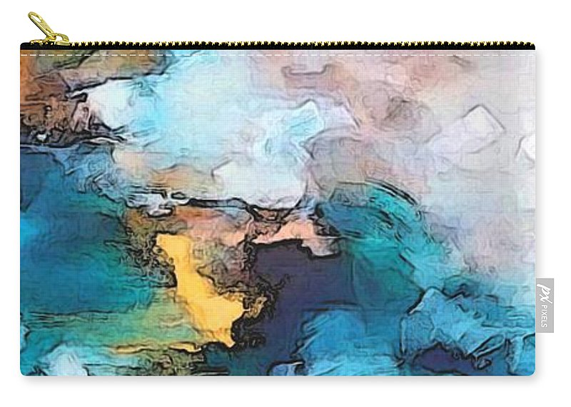 Abstract Carry-all Pouch featuring the digital art Sweet Memory Shades by Linda Mears