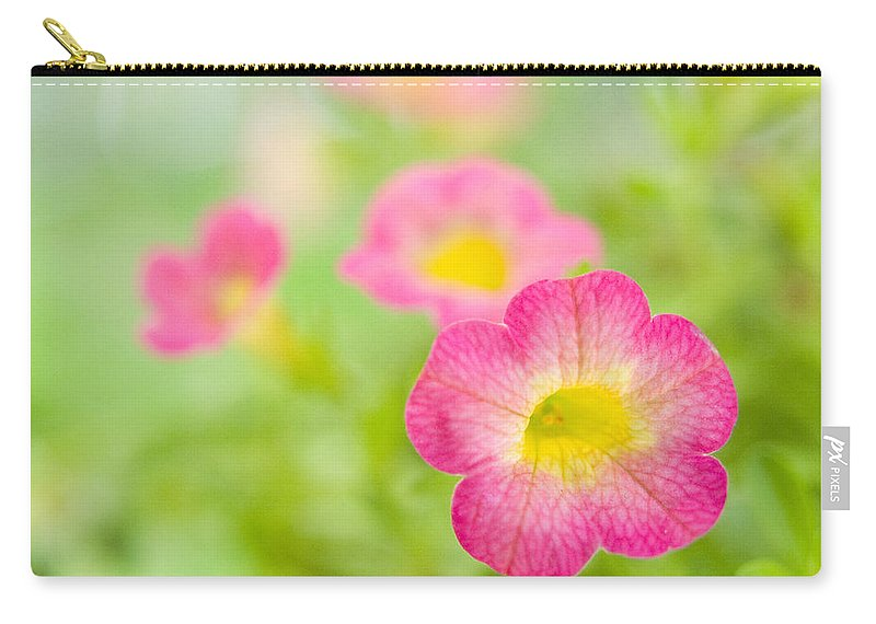 Flowers Carry-all Pouch featuring the photograph Sweet Tart Pastel Dreams by Dorothy Lee