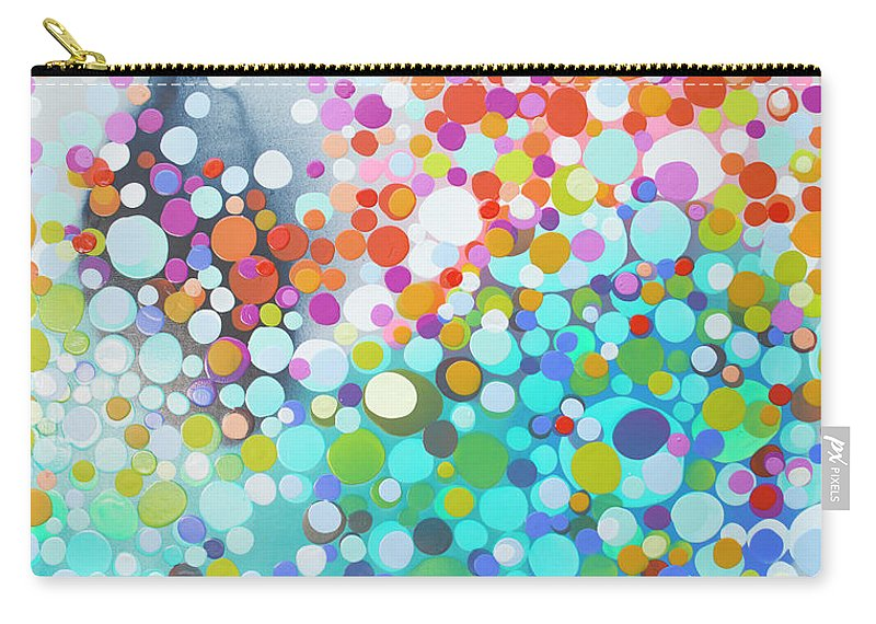 Abstract Carry-all Pouch featuring the painting Sweet Thing by Claire Desjardins
