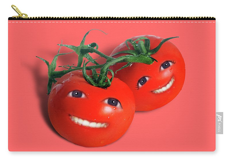 Tomatoes Carry-all Pouch featuring the mixed media Sweet Tomatoes by Gravityx9 Designs
