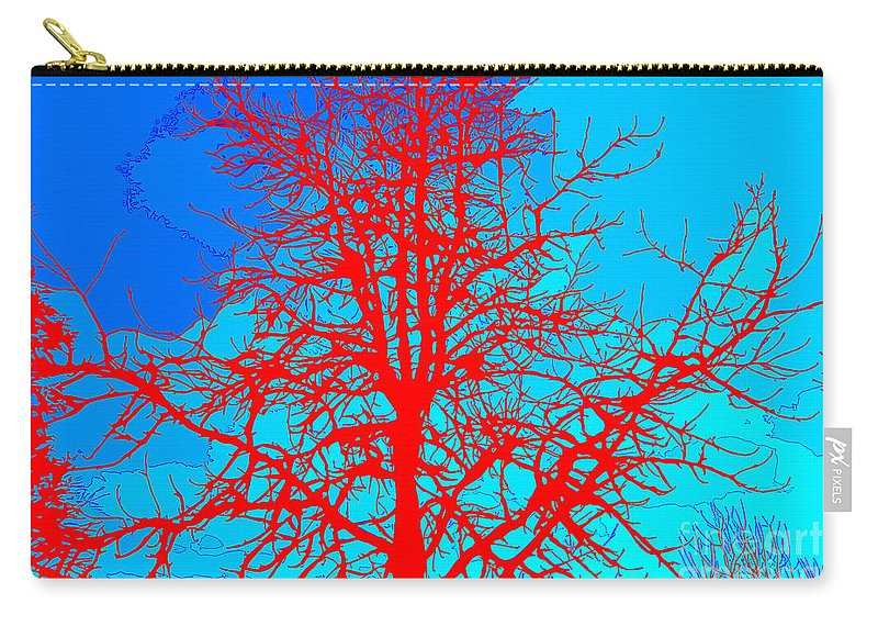 Sweetgum Tree With Colors Carry-all Pouch featuring the digital art Sweetgum 2 by Chris Taggart